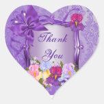 Púrpura Pegatina En Forma De Corazón