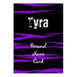 Púrpura personal de la tarjeta de presentación del plantillas de tarjetas personales