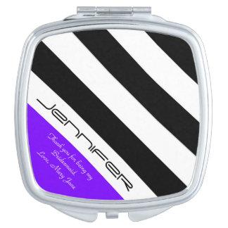 Púrpura personalizada del espejo del acuerdo de la espejo maquillaje