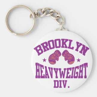 Púrpura pesada de la división de Brooklyn Llavero Redondo Tipo Pin