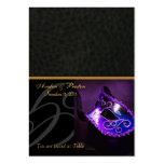 Púrpura Placecard de la máscara de la mascarada de Plantillas De Tarjeta De Negocio