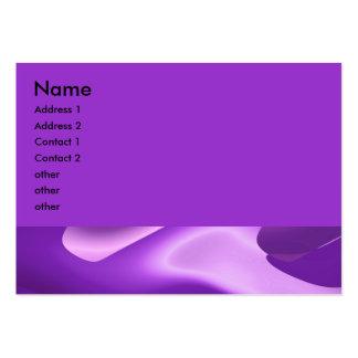 púrpura preciosa tarjetas de visita grandes