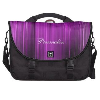 Púrpura psicodélica personalizada bolsa para ordenador