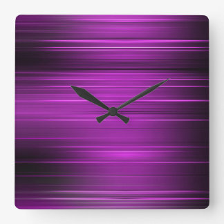 Púrpura psicodélica reloj cuadrado