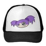 Púrpura punky del chica gorras