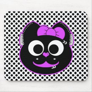 Púrpura punky del gatito tapete de ratón