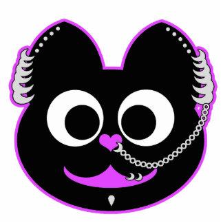 Púrpura punky del Kat del muchacho Fotoescultura Vertical
