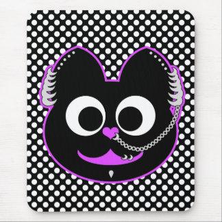 Púrpura punky del Kat del muchacho Mousepad