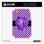 Púrpura púrpura del monograma de los lunares subió skins para eliPhone 3GS
