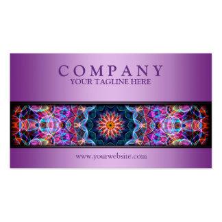 púrpura púrpura moderna de la mandala de Lotus Tarjetas De Visita