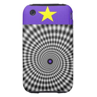 Púrpura que cautiva tough iPhone 3 cárcasas