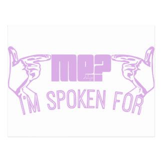 ¿púrpura - quién YO? Me HABLAN PARA Postales