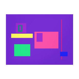 Púrpura real afortunada impresion de lienzo