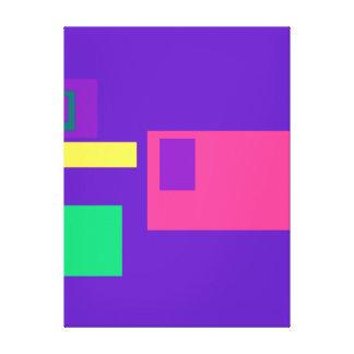 Púrpura real afortunada impresiones de lienzo