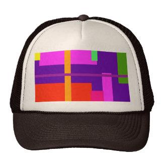 Púrpura real de la belleza linear gorra