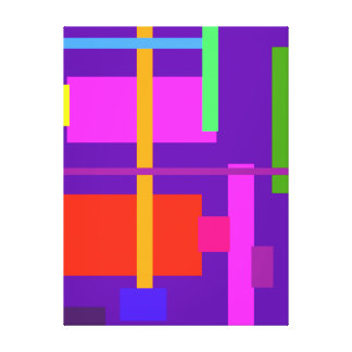 Púrpura real de la belleza linear impresion en lona