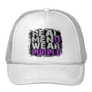 Púrpura real del desgaste de hombres de la enferme gorro de camionero