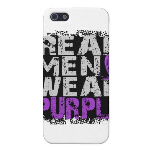 Púrpura real del desgaste de hombres de la malform iPhone 5 cárcasas