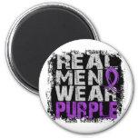 Púrpura real del desgaste de hombres de la malform imanes de nevera