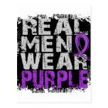 Púrpura real del desgaste de hombres de la malform tarjetas postales