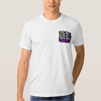 Púrpura real del desgaste de hombres de la playeras