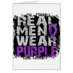 Púrpura real del desgaste de hombres del cáncer pa tarjetón