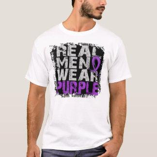Púrpura real del desgaste de hombres del lupus playera