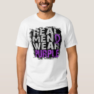 Púrpura real del desgaste de hombres del lupus poleras