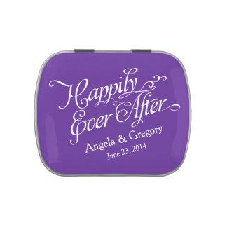 Púrpura real feliz nunca después de casar la lata latas de dulces