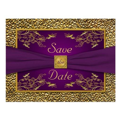 Púrpura real, reserva floral del oro la postal de
