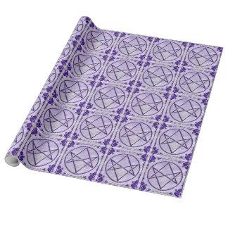 Púrpura real Unicursal Papel De Regalo