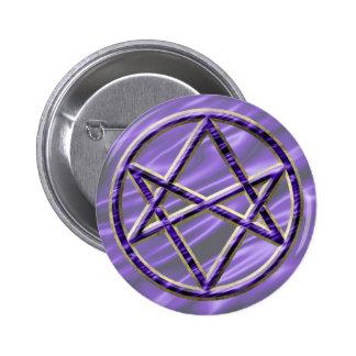 Púrpura real Unicursal Pin Redondo 5 Cm