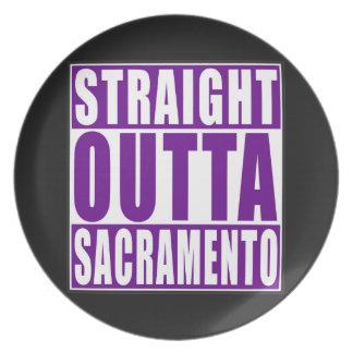 Púrpura recta de Outta Sacramento Plato