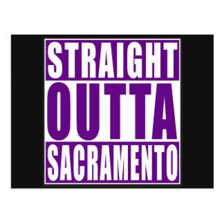 Púrpura recta de Outta Sacramento Postales