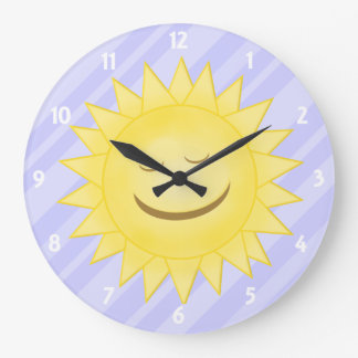Púrpura: Reloj feliz de la sol