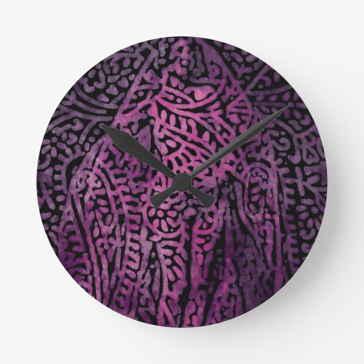 Púrpura Reloj Redondo Mediano