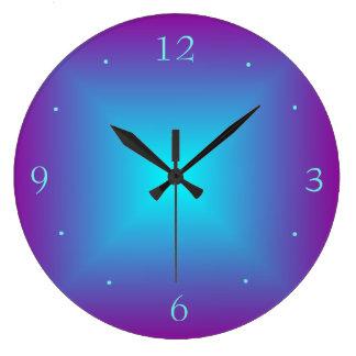 Púrpura/relojes de pared de Illuminated>Plain de