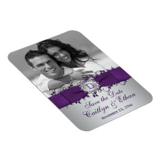 Púrpura reserva floral de la plata el imán de la