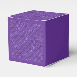 Púrpura retra apenada de la tela escocesa cajas para regalos de boda