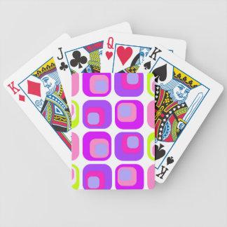 Púrpura retra de la cortina barajas de cartas