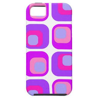 Púrpura retra de la cortina iPhone 5 Case-Mate protector