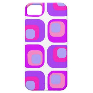 Púrpura retra de la cortina iPhone 5 cárcasas