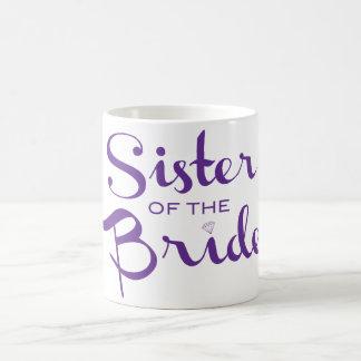 Púrpura retra de la escritura de la hermana taza clásica
