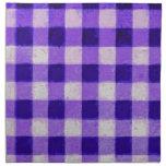 Púrpura retra de la guinga servilletas de papel
