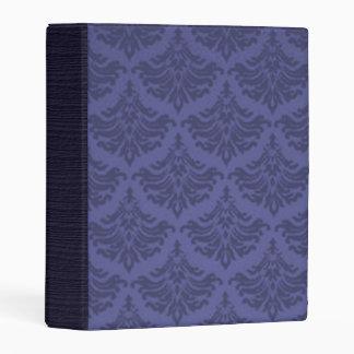 Púrpura retra del arándano del brocado del damasco mini carpeta