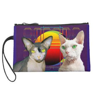 Púrpura retra del gato de Devon Rex del gato de