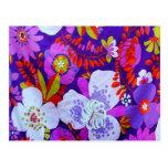 Púrpura retra postales