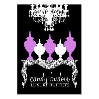 Púrpura rococó de Budoir de 311 caramelos Tarjetas De Visita Grandes