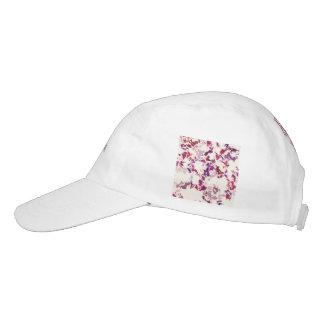 púrpura roja de la salpicadura gorras de alto rendimiento