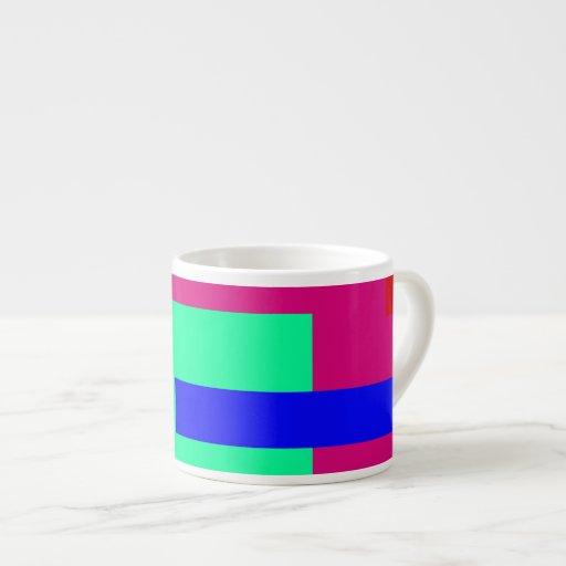 Púrpura roja tazitas espresso